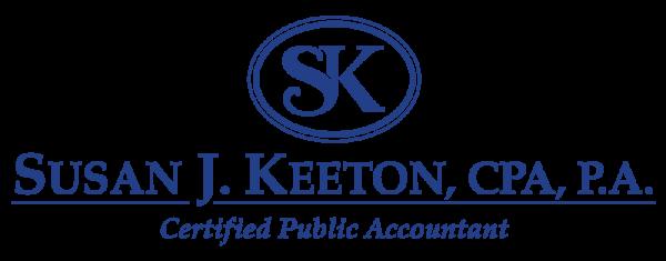 Susan J. Keeton, CPA, P.A. Logo